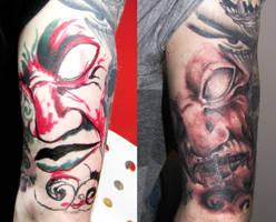 Demon tattoo by dmtattoo