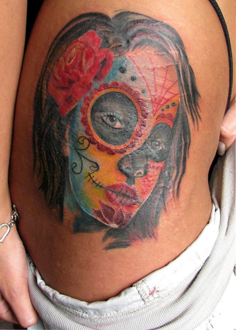 Dia de los muertos tattoo by dmtattoo on deviantart for Dia de muertos tattoos