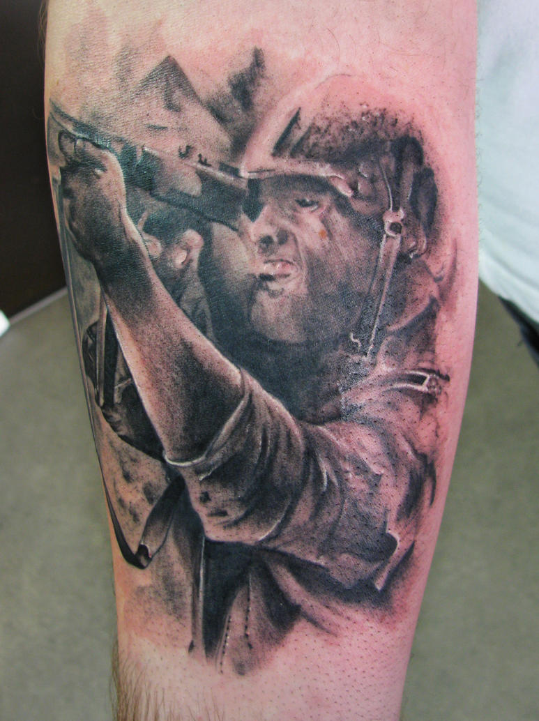Soldier tattoo by dmtattoo
