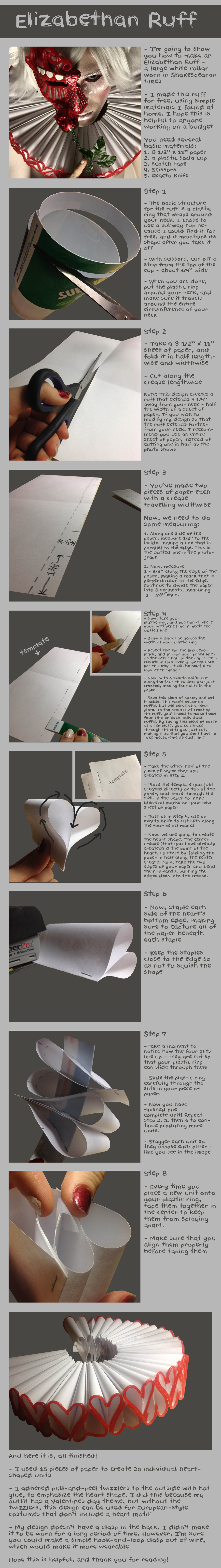 Elizabethan Ruff Tutorial by Bllacksheep