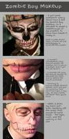 Zombie Boy Makeup Tutorial by Bllacksheep