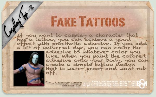 Cosplay Tip 2: Fake Tattoos by Bllacksheep