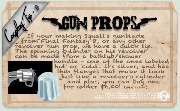 Cosplay Tip 3: Gun Props by Bllacksheep