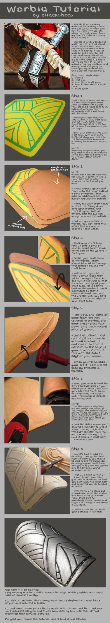 Worbla Tutorial by Bllacksheep