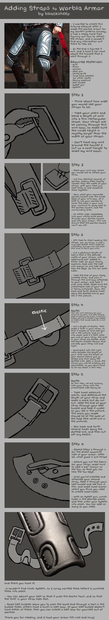 Adding Straps to Worbla Armor Tutorial by Bllacksheep