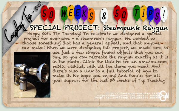 Cosplay Tip 50 - Special Project: Steampunk Raygun
