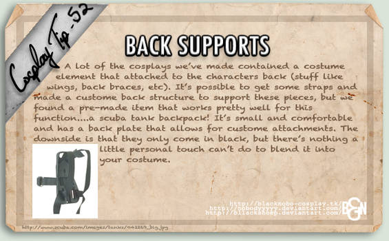 Cosplay Tip 52 - Back Supports