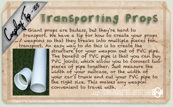 Cosplay Tip 55 - Transporting Props