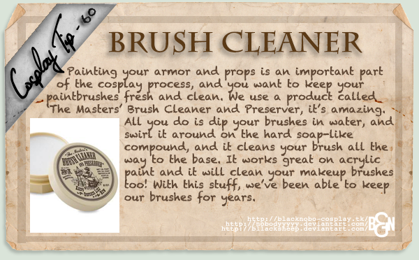 Cosplay Tip 60 - Brush Cleaner by Bllacksheep
