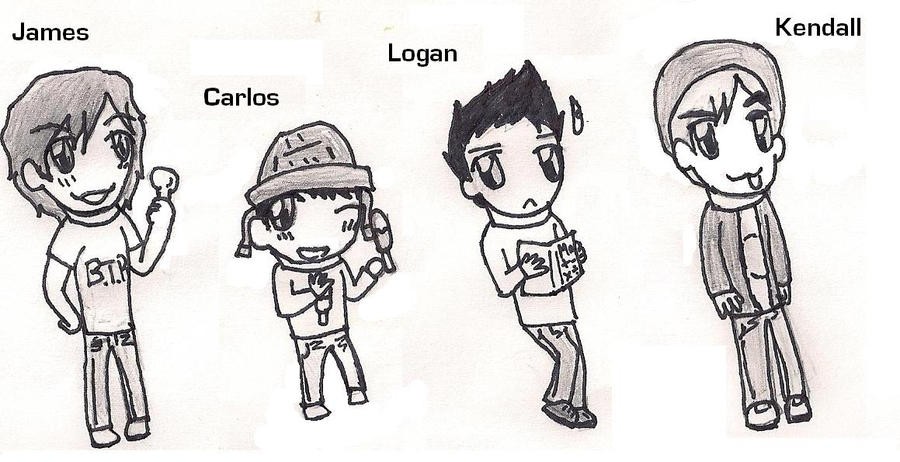 Big Time Rush By Sclirada On Deviantart Big Time Coloring Pages