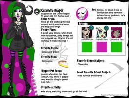 MH Casandra Reaper profil bio by RukiexRamen