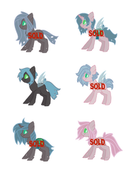 Chrysalis x Fluffle Puff Adopts - OPEN (1/6) by Rad-Radishes