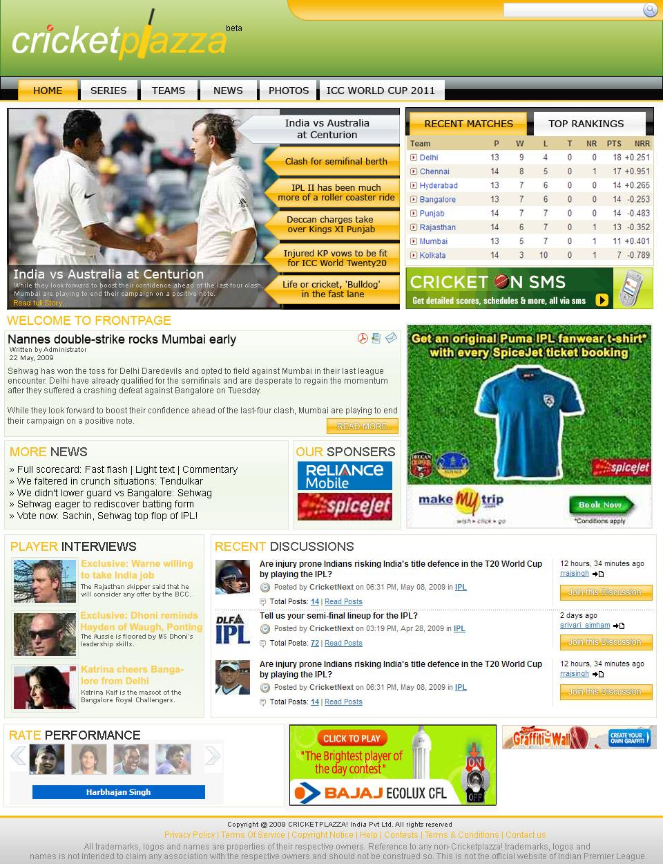 cricket news website template by baltejsingh on deviantart. Black Bedroom Furniture Sets. Home Design Ideas