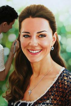 Kate Middleton pintura realista