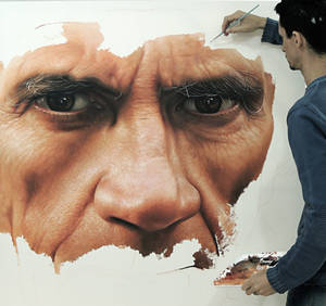 Hyper Realistic Painting  oil on canvas by Millani