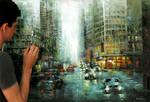 Agree - oil painting on canvas - fabiano millani