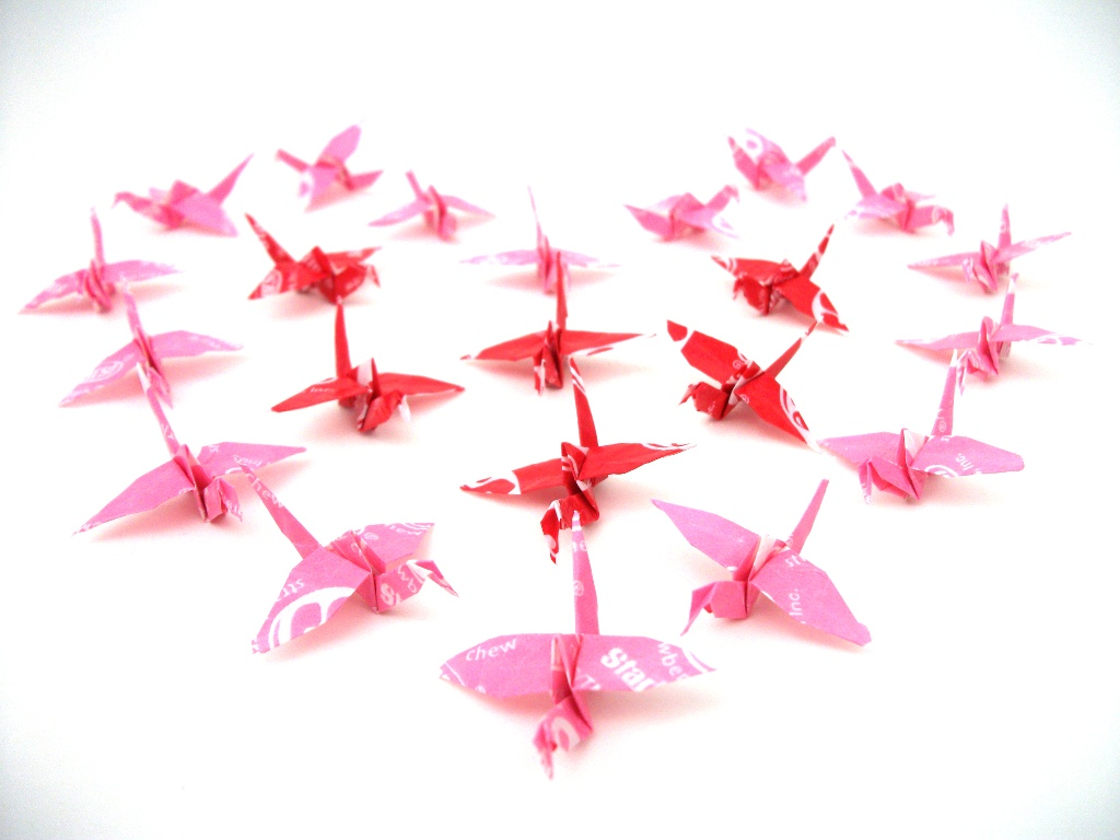 Valentine Day Paper Cranes by dailyloser