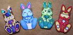 Paper Bag Rabbit Samples by JessicaYean