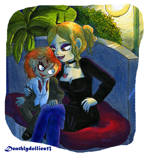 Sitting together by Deathlydollies13