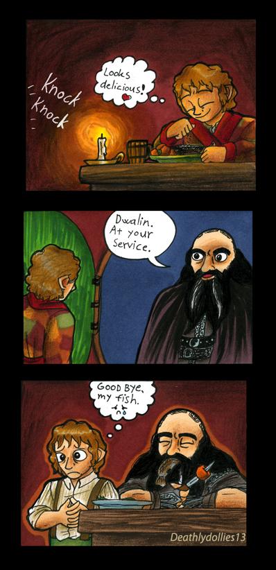 Poor Bilbo by Deathlydollies13