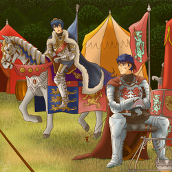 IkeMarth Valentine/White day Exchange by Marth-the-Fabulous