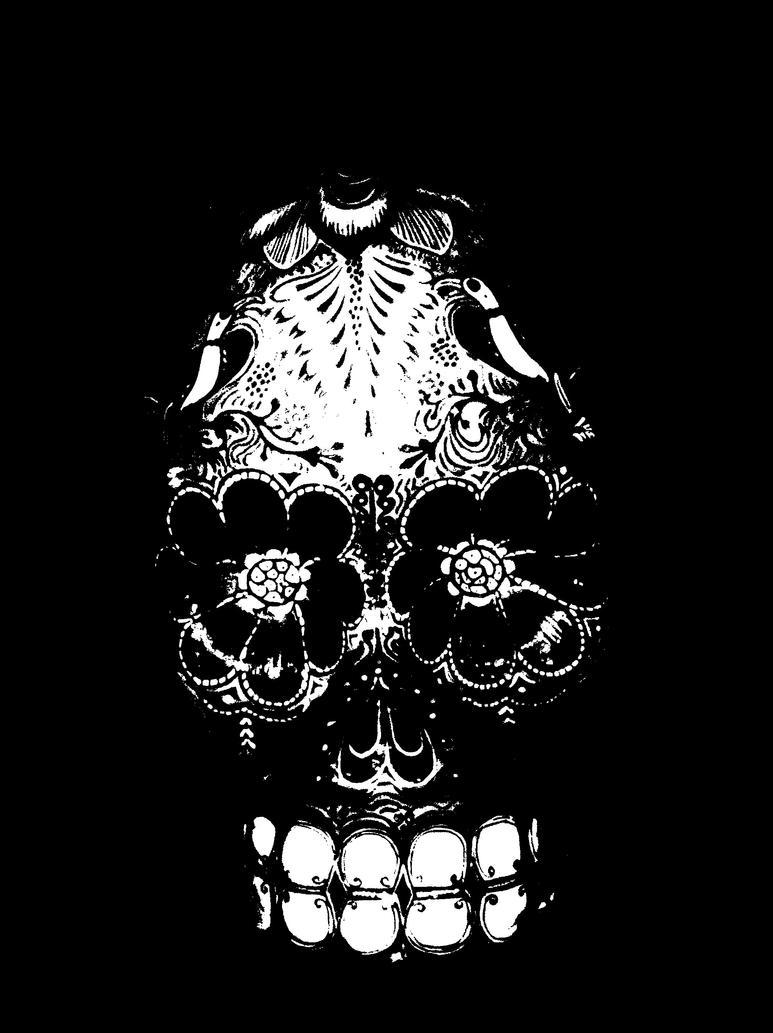 Flower Skull by Funkypants99 on DeviantArt
