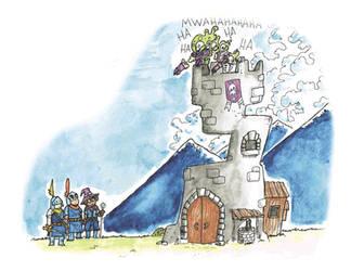 La torre del Baron Mortem by Macuahui-Mixtli
