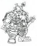 Dwarf warrior on break.