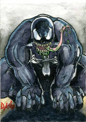 Venom 4 Sketch Card by DKuang