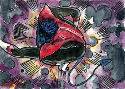 Nightcrawler Sketch Card by DKuang