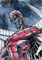 Archangel Sketch Card by DKuang