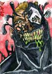 Venom Grinning Sketch Card