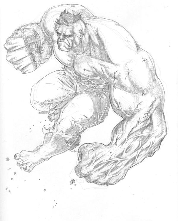 Hulk Drawing In Pencil Easy