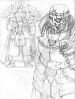Warrior Priest Sketch by DKuang