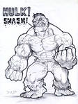 Hulk doodle of the day