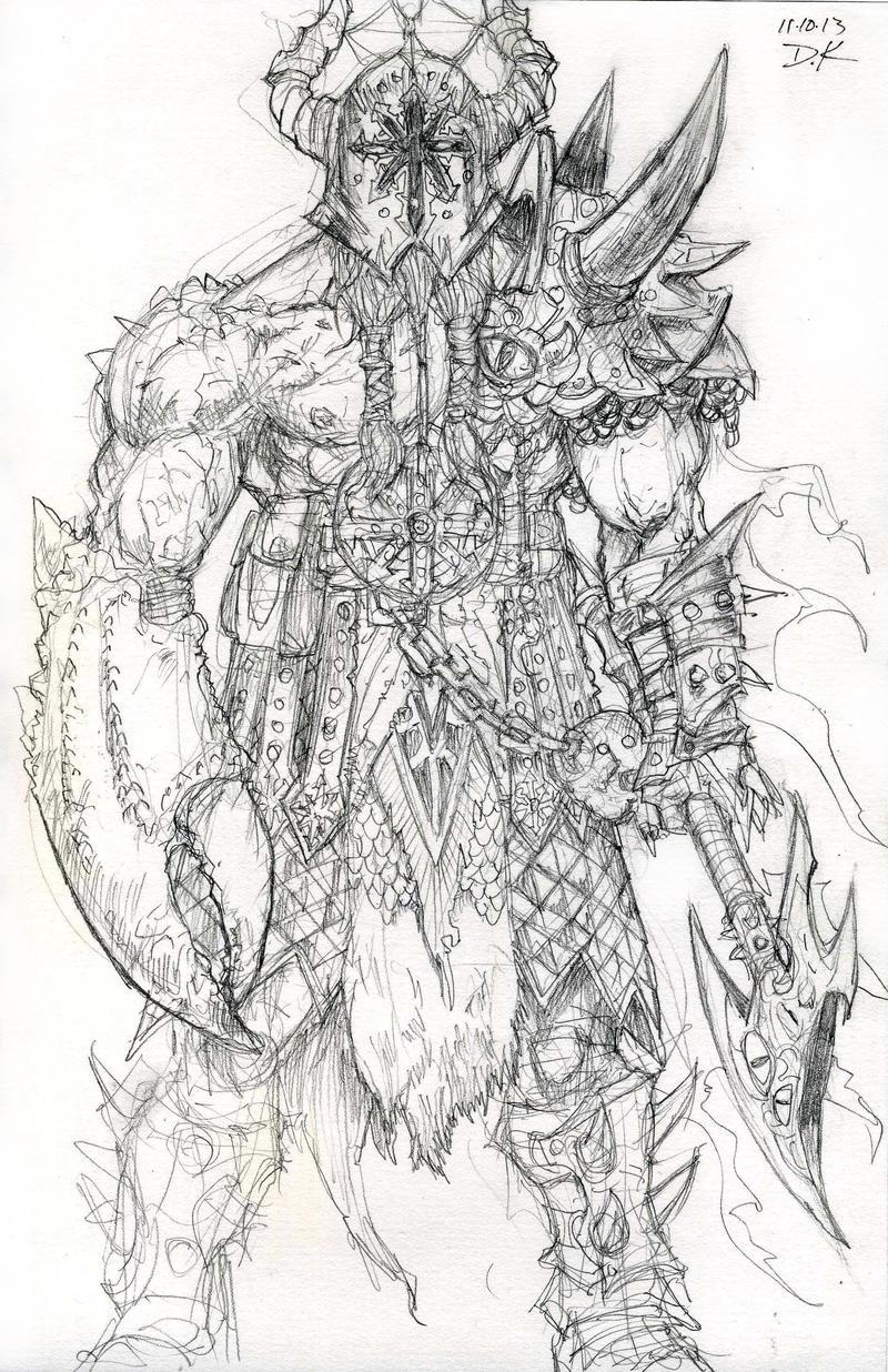 Chaos Marauder Sketch by DKuang