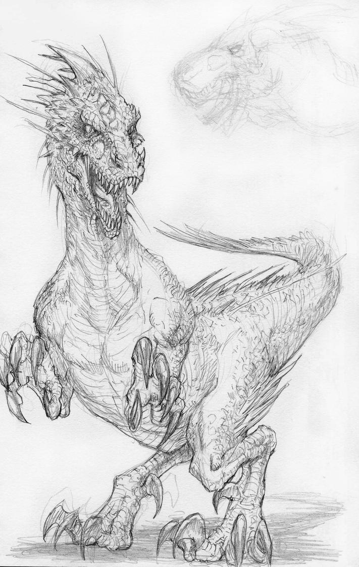 Dino Sketch by DKuang