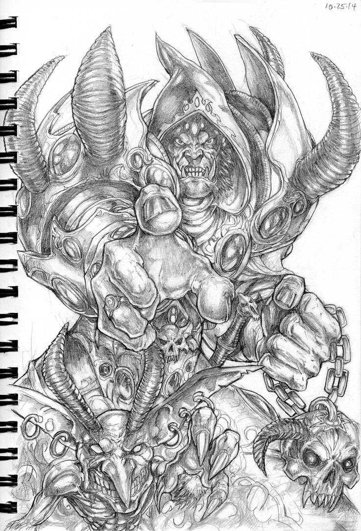 Orc Warlock by DKuang