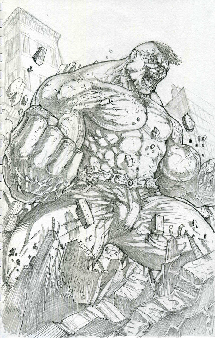 Hulk doing his thang. by DKuang