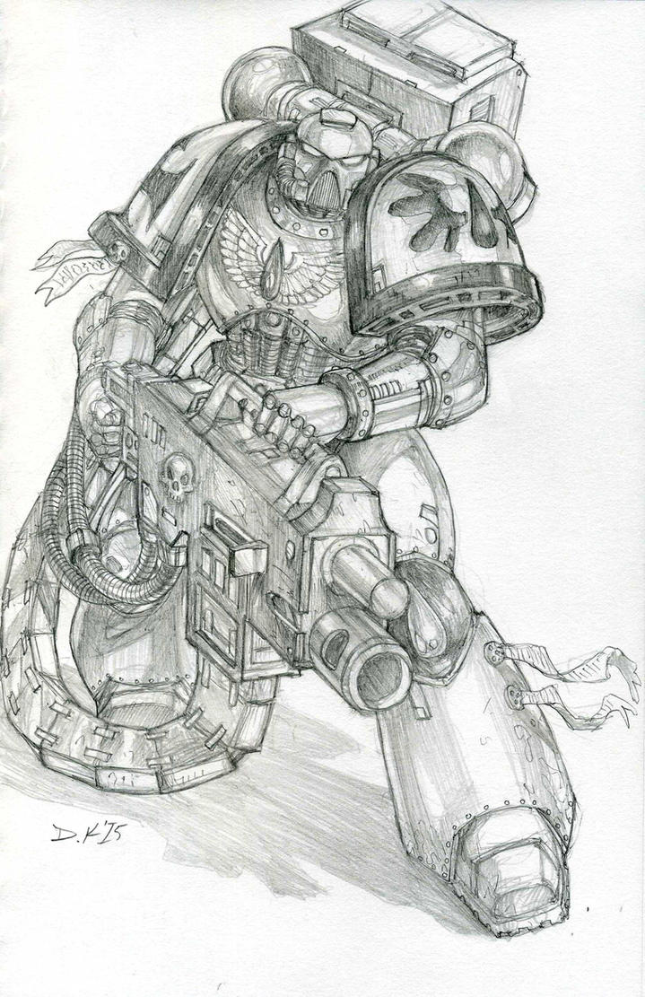 Blood Angel Heavy Bolter by DKuang