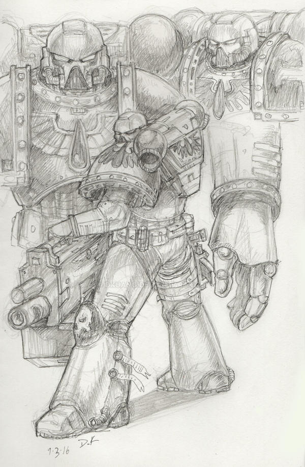 Blood Angel doodles by DKuang