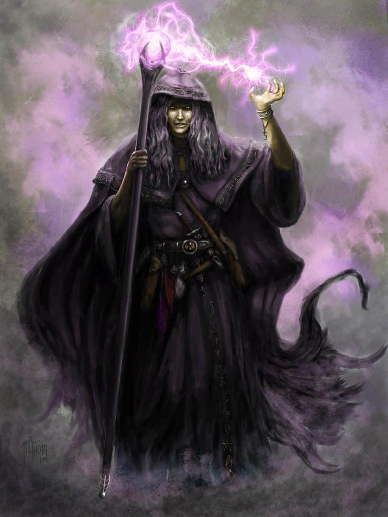 Raistlin Majere in Black Robes by MichaelThom