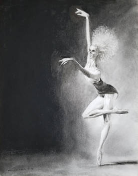 Crypt Ballet 11x14 charcoal