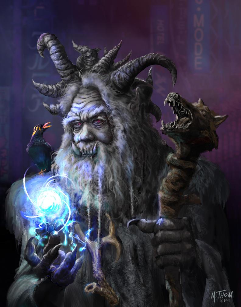 Yog-Shadowrun Troll Magician by MichaelThom