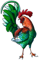 Rooster by ritabuuk