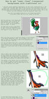 How To: Transparent Background for Traditional Art