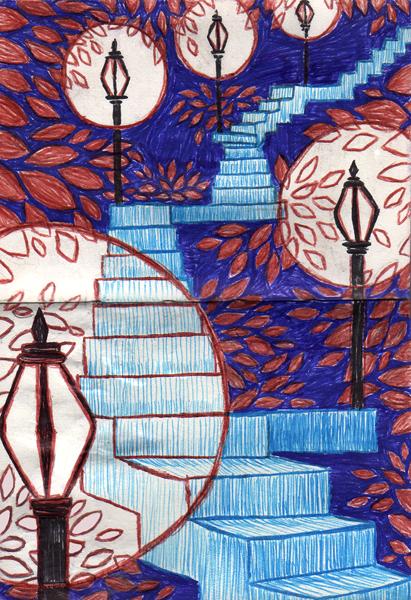 Autumn Stairs by ritabuuk
