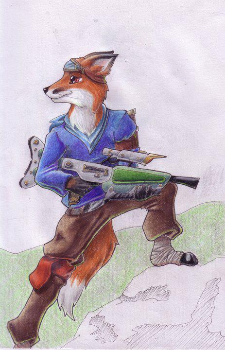 Tracker posing by Tracker-Fox