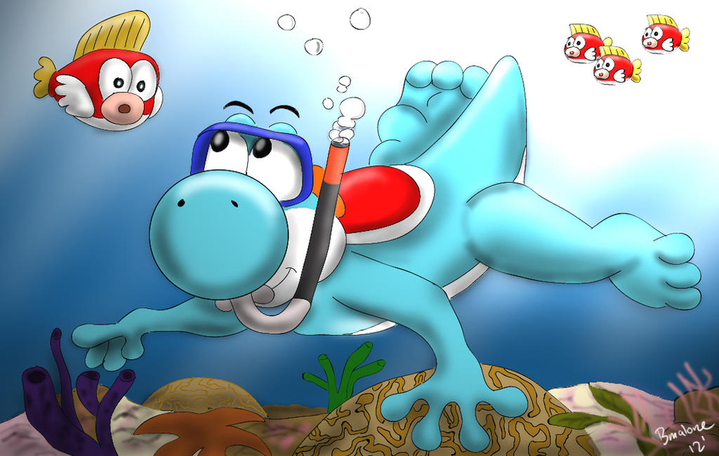 Yoshi Snorkelling by The-B-Meister