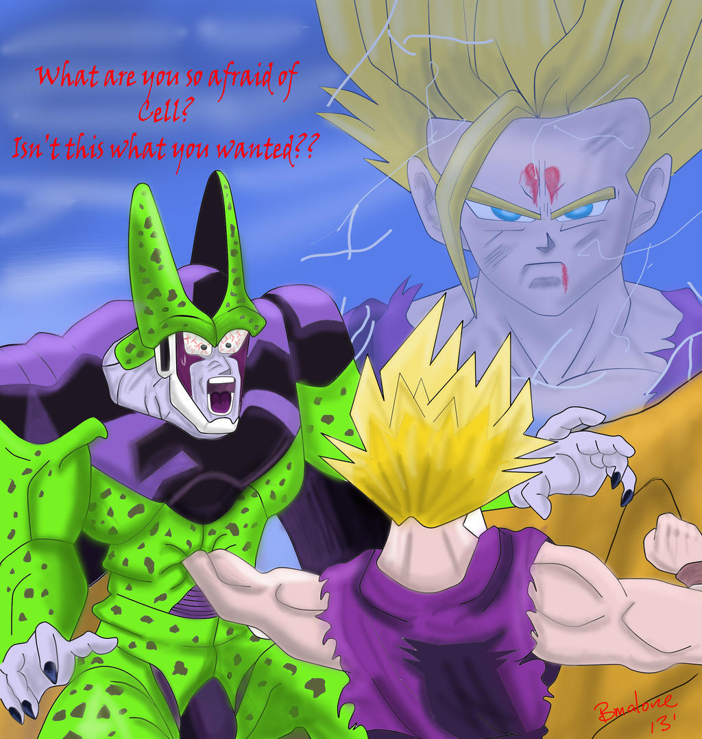 What are you so afraid of Cell?? by The-B-Meister